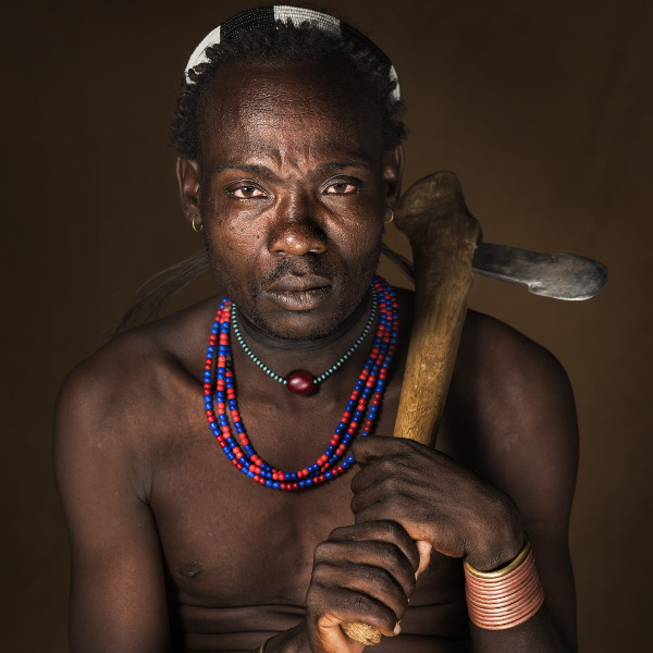 Member of the Asil, from the Hamar people (Southern part of the Omo River basin in Ethiopia)