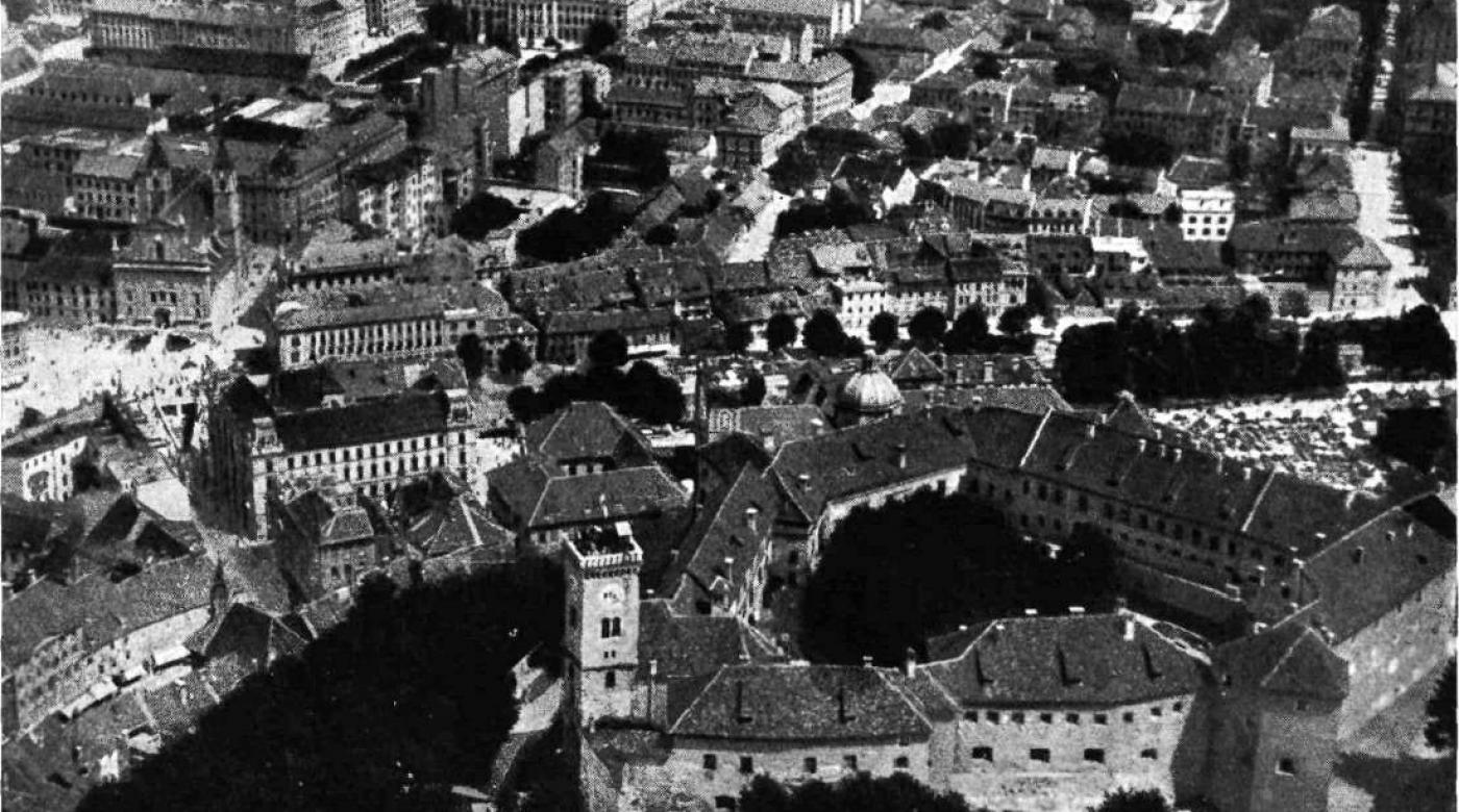 Ljubljana from the plane. Kronika slovenskih mest, 1934, year 1, nr. 1